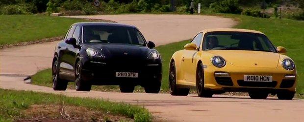 Porsche Cayenne Turbo si 911 Carrera 4S - Fata in fata pe circuit!