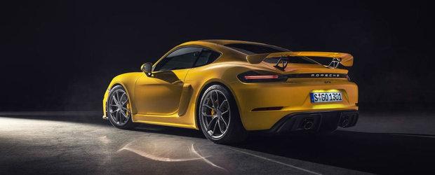 Porsche lanseaza noile 718 Cayman GT4 si Boxster Spyder: motor boxer de 4.0 litri si cutie manuala