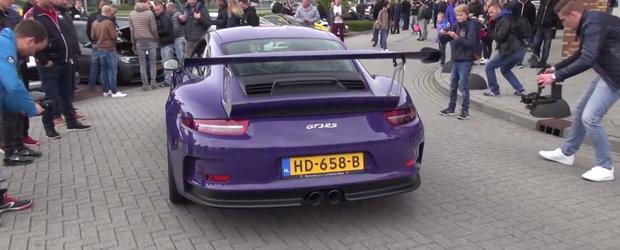 Porsche-le 991 GT3 RS cu caroserie violet stie cum sa se faca remarcat