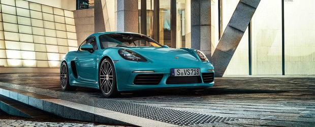 Porsche mai strecoara in gama un model in patru cilindri. Cu ce valori se lauda noul 718 Cayman