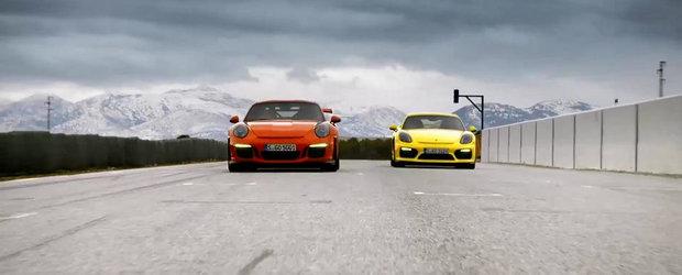 Porsche ne arata in actiune noile 911 GT3 RS si Cayman GT4