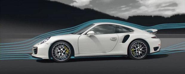 Porsche ne explica aerodinamica noului 911 Turbo S