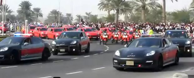 Porsche Panamera si Cayenne - masinile de politie din Qatar