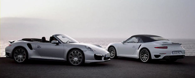 Porsche prezinta in actiune si detaliu noul 911 Turbo Cabriolet