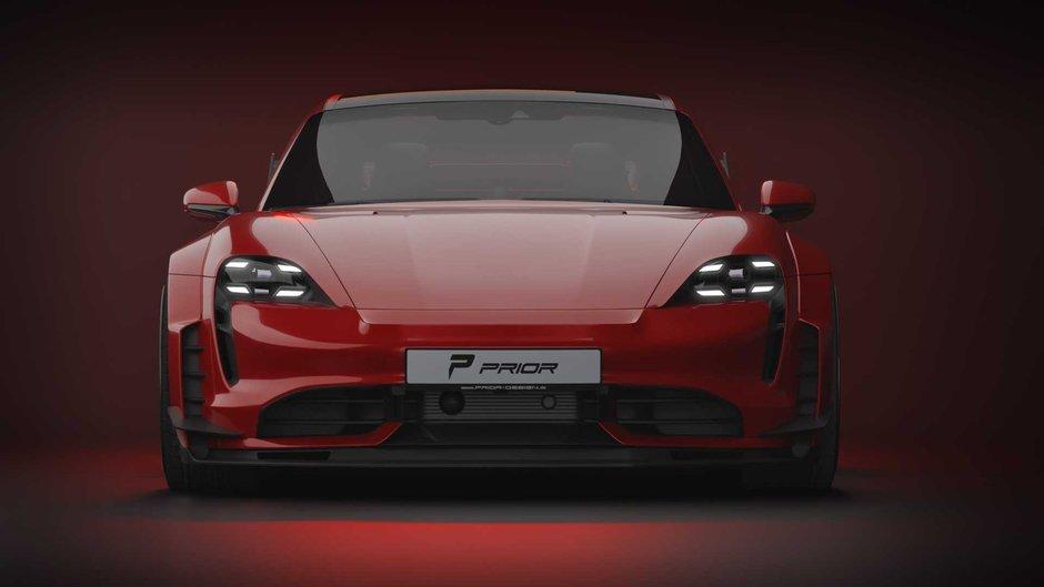 Porsche Taycan tunat de Prior Design