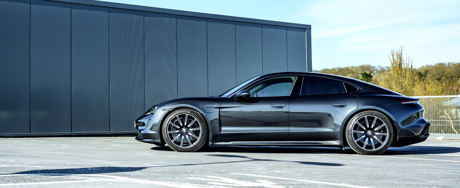 Porsche Taycan Turbo mai rapid pe Hockenheim decat M5 Competition si Shelby GT500