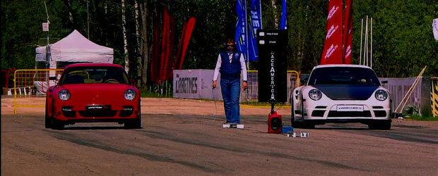 Porsche vs. Porsche: Patru exemplare 911 se iau la intrecere la Moscow Unlim 500+