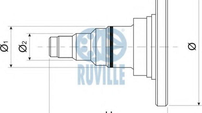 Portfuzeta / jamba VW GOLF III (1H1) (1991 - 1998) RUVILLE 415403 produs NOU
