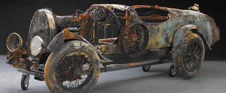 Povestea Bugatti-ului Brescia Roadster uitat pe fundul unui lac 75 de ani