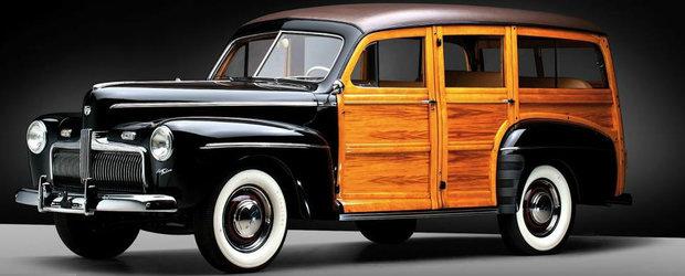 """Povestea fenomenului """"Woody"""": moda masinilor decorate cu lemn care semanau cu un sifonier"""