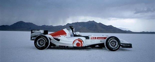 Povestea recordului realizat de Honda cu un monopost F1: 400 km/h in desert
