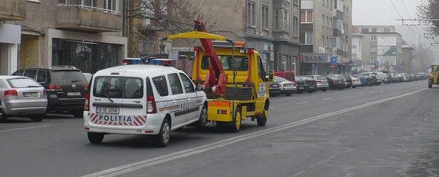 Poza Zilei: In Brasov, serviciul de tractari auto nu iarta nimic!