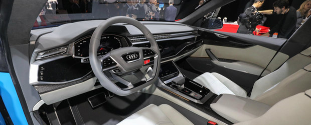 POZE REALE cu Audi Q8 Concept, masina care anunta un rival pentru BMW X6