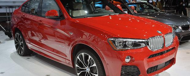 Poze reale cu BMW X4 de la New York: fanii marcii spun ca este un X6 de buget
