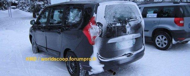 Poze reale Dacia Lodgy: poze noi de amanunt, din cadrul unor teste in Franta