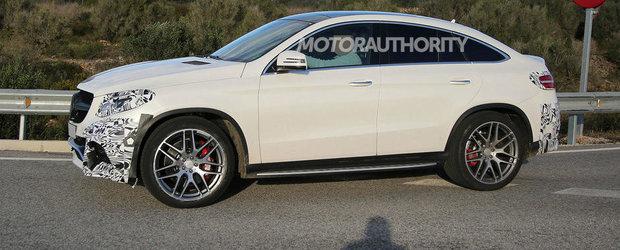 POZE Spion: ASA arata noul GLE Coupe, rivalul Mercedes pentru BMW X6!