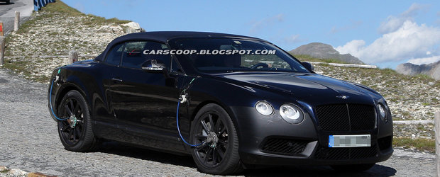 Poze spion: Bentley Continental GTC Speed 2012 surprins in Alpi