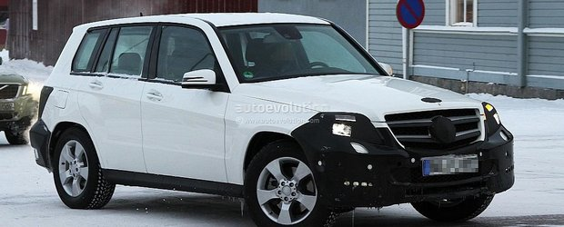 Poze spion cu noul Mercedes GLK Facelift 2012