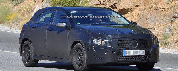 Poze spion: Mercedes A-Class, ultimele teste inainte sa se ia la tranta cu BMW Seria 1