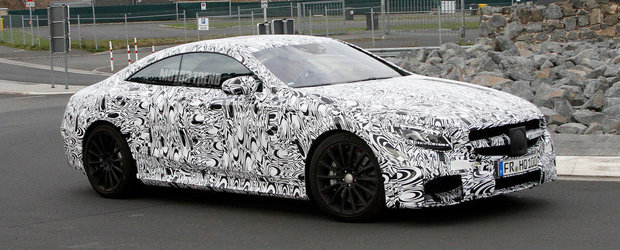 Poze Spion: Mercedes scoate in teste noul S63 AMG Coupe