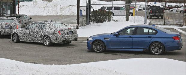 Poze Spion: Noul Cadillac CTS-V, surprins in teste alaturi de BMW M5 F10