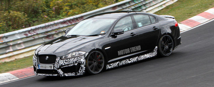 Poze Spion: Noul Jaguar XFR-S face cunostinta cu circuitul de la Nurburgring