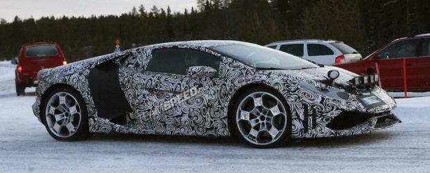 Poze Spion: Noul Lamborghini Huracan ne dezvaluie cateva dintre liniile si formele sale