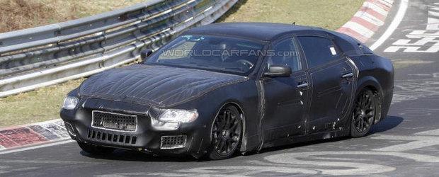 Poze Spion: Noul Maserati Quattroporte face cunostinta cu legendarul Nurburgring