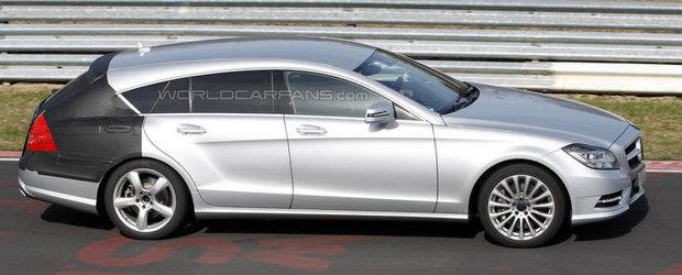 Poze Spion: Noul Mercedes CLS Shooting Brake isi continua activitatile obisnuite