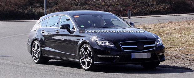 Poze Spion: Noul Mercedes CLS63 AMG Shooting Brake isi incordeaza muschii in fata camerelor