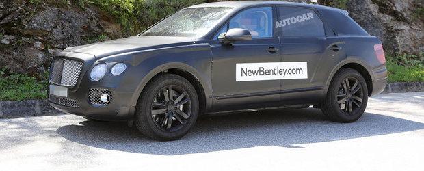 POZE SPION: Noul SUV Bentley arata exact ca un Continental GT supraponderal