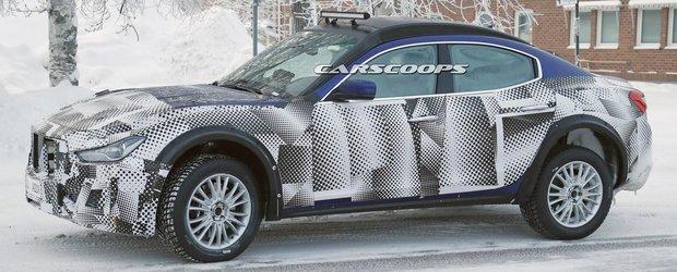 Poze spion proaspete cu SUV-ul Maserati numit Levante