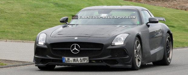 Poze Spion: Viitorul SLS AMG Black Series isi incordeaza din nou muschii in fata camerelor