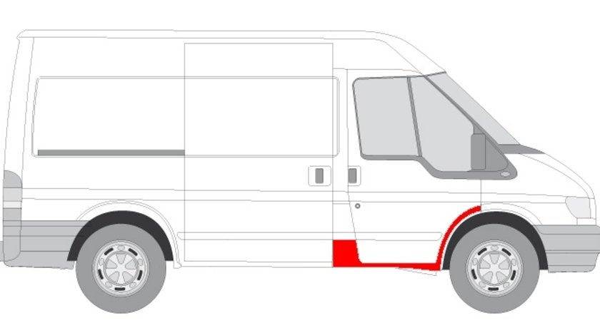 Prag tabla fata dreapta sectiunea completa blic pt ford transit 2000-2014