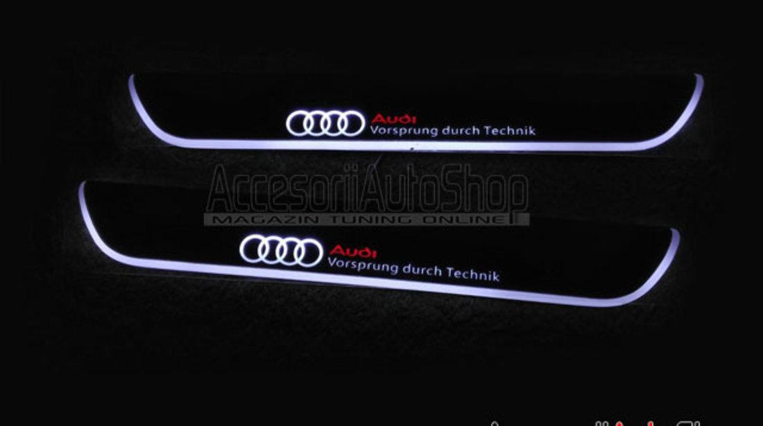 Praguri Interioare Iluminate LED AUDI