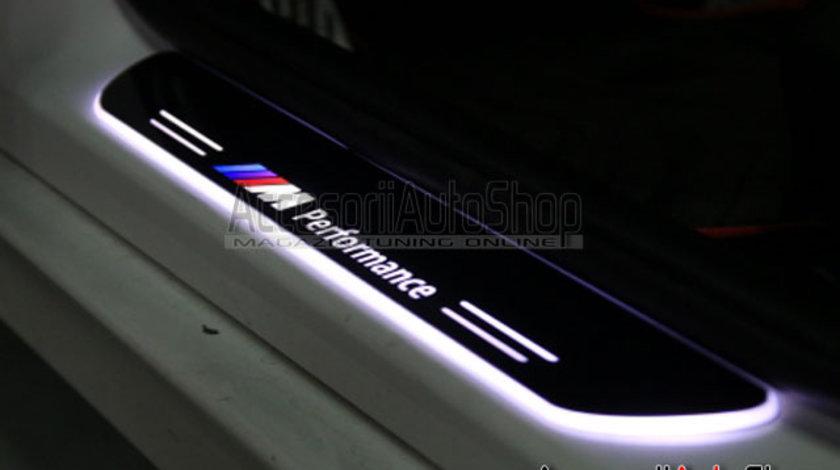 Praguri Interioare Iluminate LED BMW M Performance