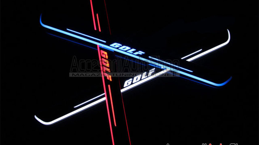 Praguri Interioare Iluminate LED VW GOLF