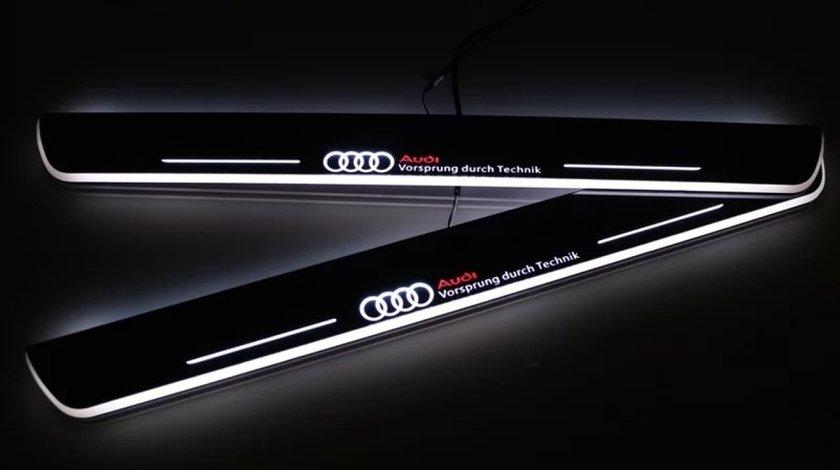 Praguri led Audi ornamente iluminate pt A3 A4 A6 Q3 Q5 Q7 S-line B6 B7 B8
