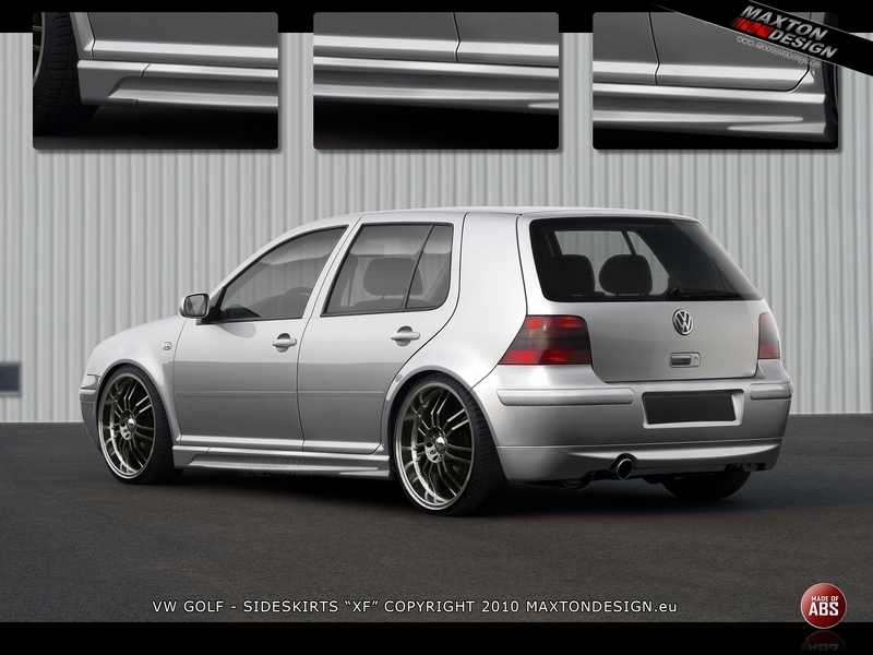 Praguri VW Golf 4 cu 4/5 usi model XR plastic