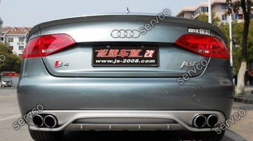 Prelungire ABT difuzor Sline adaos tuning sport bara spate Audi A4 B8 8K S4 RS4 2008-2012 v1