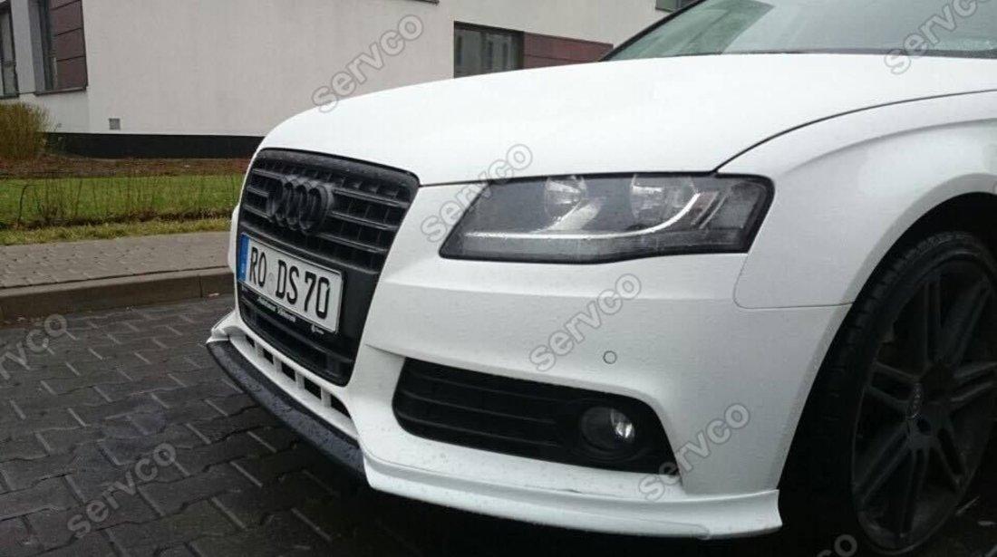 Prelungire adaos spoiler fusta extensie bara fata Audi A4 B8 Sline S Line S-line RS4 S4