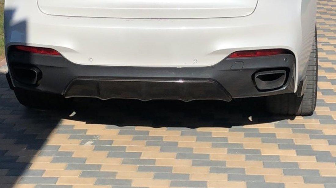 Prelungire Aero bara spate tuninig sport BMW X6 F16 M50D M Performance Pack Sport v1