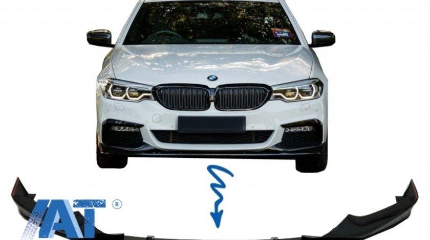 Prelungire Bara Fata Negru Lucios compatibil cu BMW Seria 5 G30 G31 (2017+) M Tech Sport H-Design