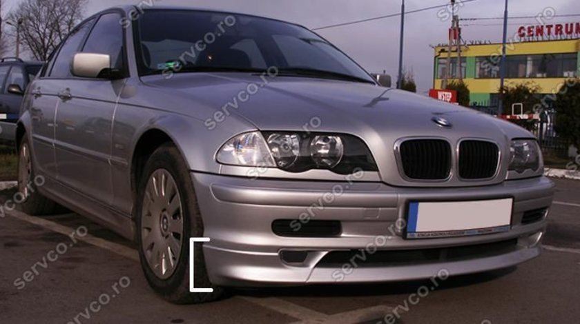 Prelungire bara fata spoiler fusta BMW E46 1998 2002 sedan combi Alpina ver1