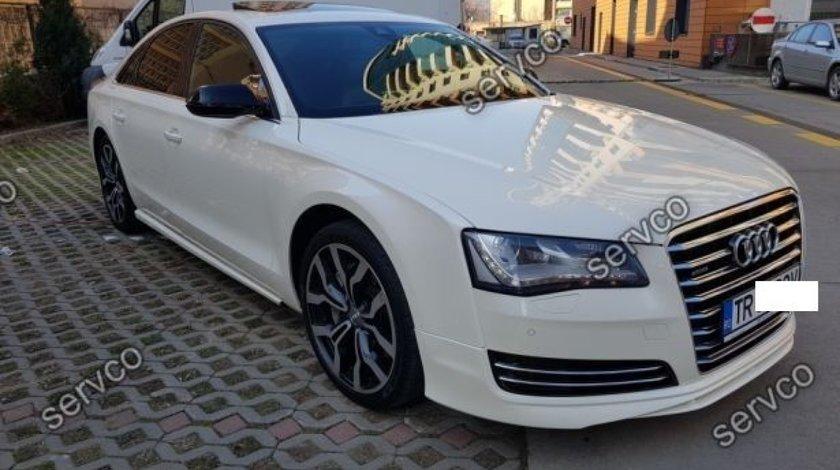 Prelungire buza lip tuning sport bara fata Audi A8 D4 ABT 2010-2014 v1