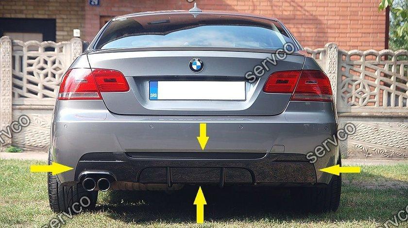 Prelungire difuzor adaos evacuare tuning sport bara spate BMW E92 E93 320 Mtech Aero ver1