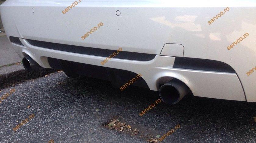 Prelungire difuzor adaos fusta extensie lip buza bara spate BMW E92 E93 Mtech Aero ver2