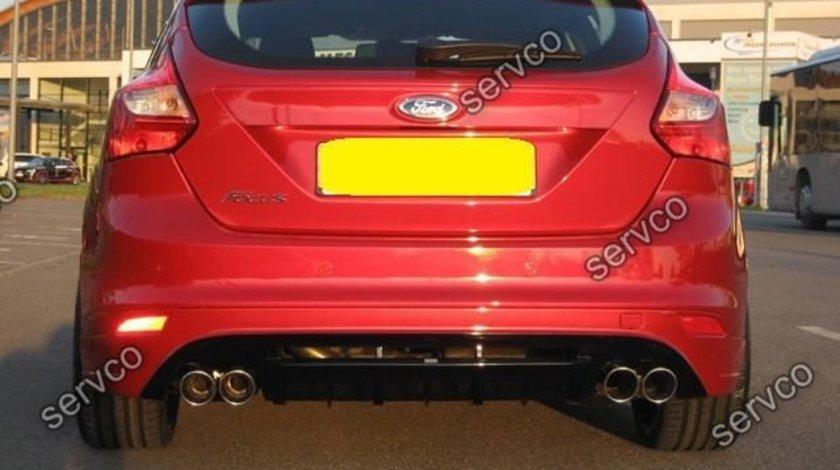 Prelungire difuzor bara spate tuning sport Ford Focus Mk3 ST Zetec S Titanium X Trend 2011-2014 v2