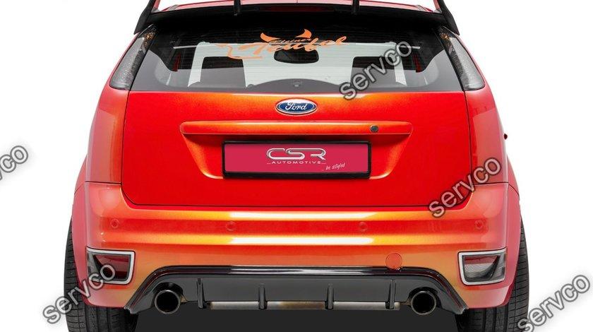Prelungire difuzor tuning sport bara spate Ford Focus 2 ST CSR HA170-C Carbon Look 2005-2007 v4
