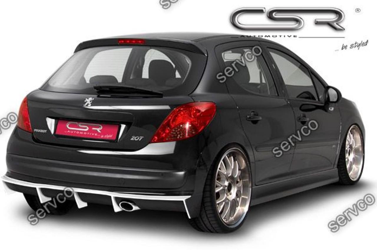 Prelungire difuzor tuning sport bara spate Peugeot 207 HA106 2006-2012 v1